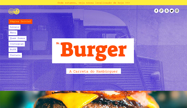 Restaurante website templates – Carro de Comida