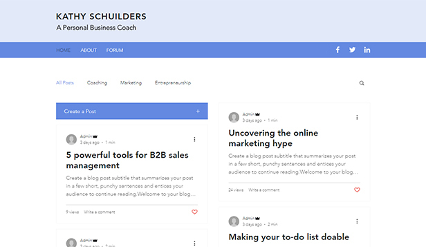 Nachrichten & Business website templates – Business-Trainer