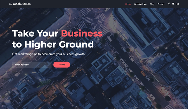 Nachrichten & Business website templates – Marketing Blog