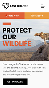Komunity website templates – Wildlife Conservation