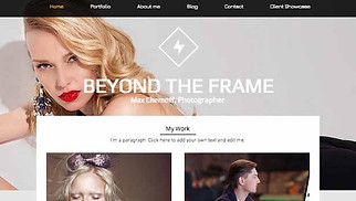 Photography website templates - Fashion Photography Studio