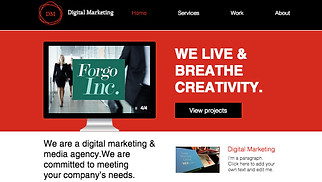 Advertising & Marketing website templates -  Digital Marketing