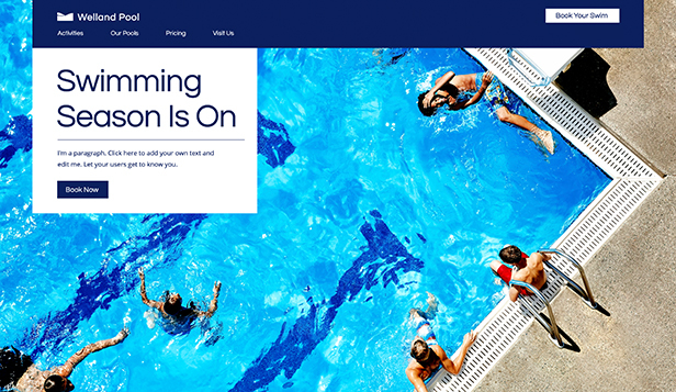 Sport en fitness website templates – Swimming Pool