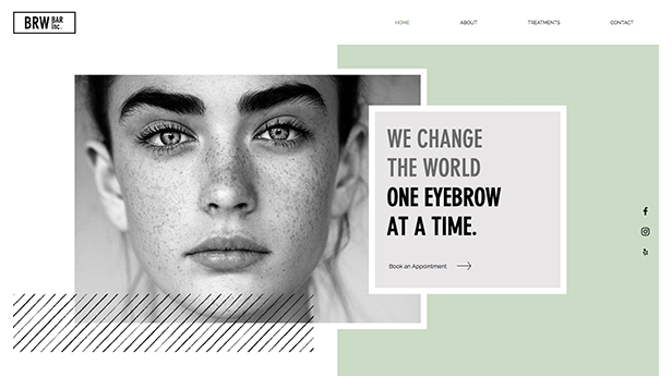 Uroda website templates – Brow Bar