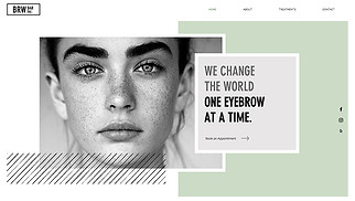 All website templates - Brow Bar