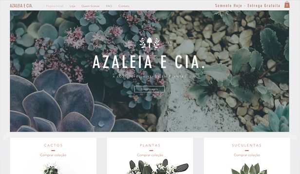 Mais Usados website templates – Boutique de Plantas