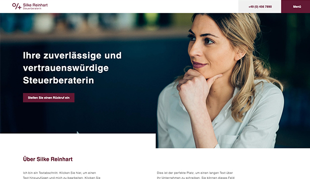 Alle website templates – Steuerberater