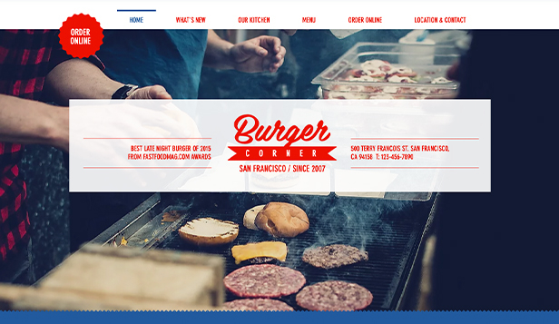 Restaurant website templates – Burgerbar
