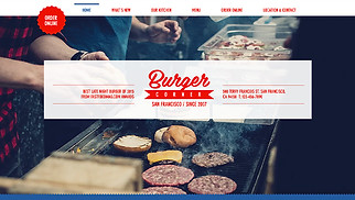Restaurants & Food website templates - Burger Corner