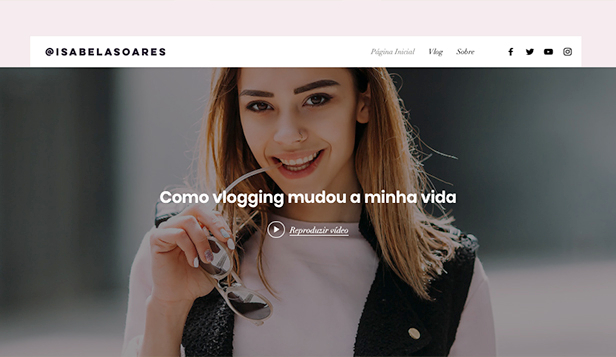 Blog Pessoal website templates – Blog sobre cotidiano
