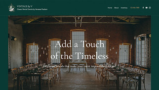 Events website templates - Event Rentals
