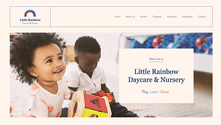 Education website templates - Daycare & Nursery