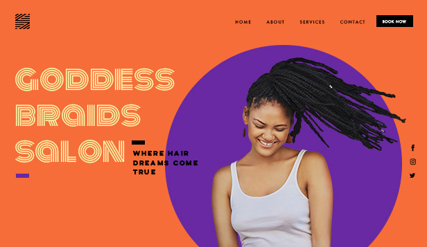 Schoonheid en kapsels website templates – Haarsalon
