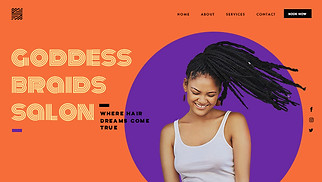 Beauty & Hair website templates - Hair Braids Salon