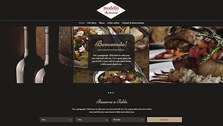 Restaurants & Food website templates - Italian Restaurant