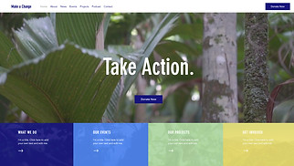 Events website templates - Environmental NGO