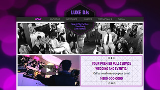 Event Production website templates - Wedding DJ