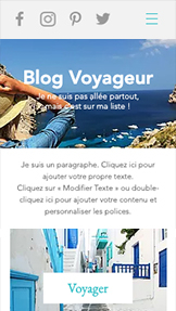 Blog website templates – Blog du voyageur