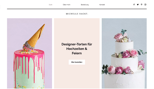 Restaurants & Essen website templates – Festliche Torten