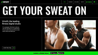 Health & Wellness website templates - Online Fitness Programs