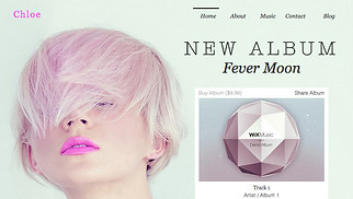 Music website templates - Electro Pop Singer