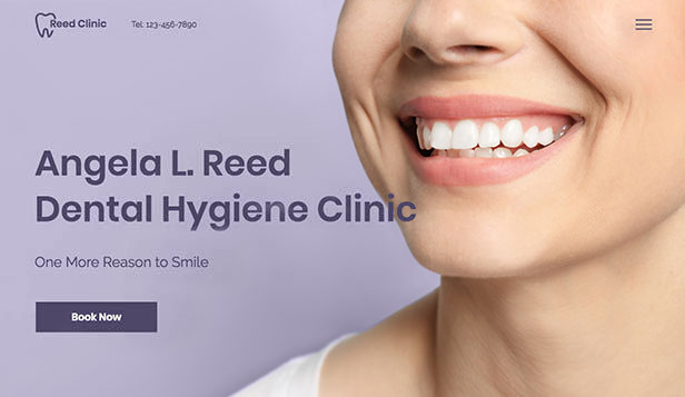 医療&介護 website templates – Dental Hygienist