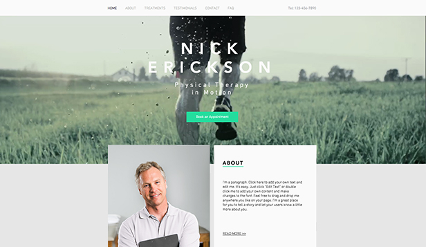 Helse website templates – Fysioterapi