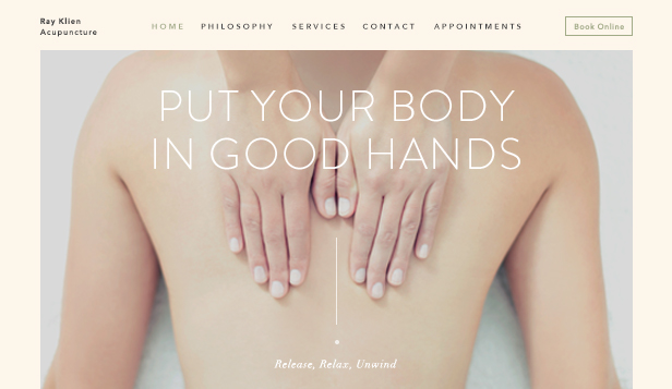 Gezondheid en wellness website templates – Acupuncturist