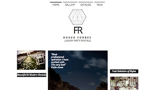 Events website templates - Luxury Party Rentals