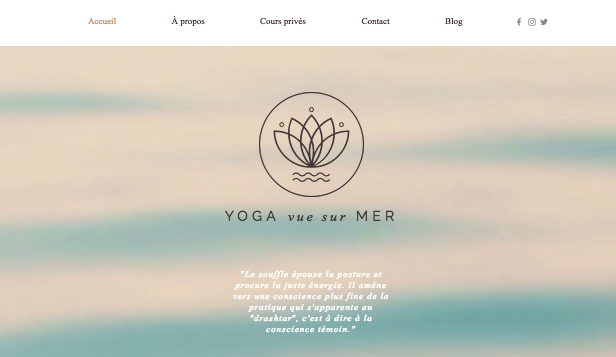 Sport et fitness website templates – Studio Yoga