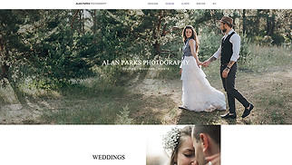 Photography website templates - Wedding Photographer