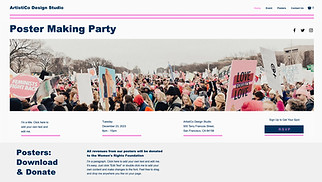 Events website templates - Poster Party