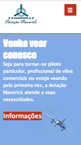 Aulas e Cursos website templates – Escola de Vôo
