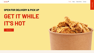Restaurants & Food website templates - Food Delivery Service