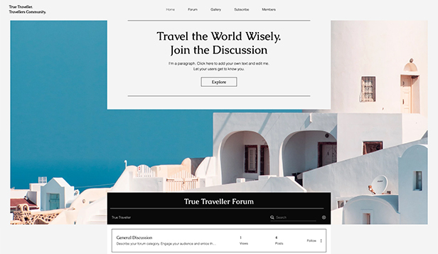 ऑनलाइन फोरम website templates – Lifestyle Forum