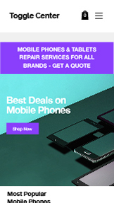 Elektronik website templates – Smartphone- & Tablet-Shop