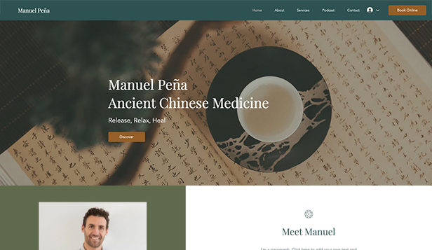 Wellness website templates – Holistický léčitel