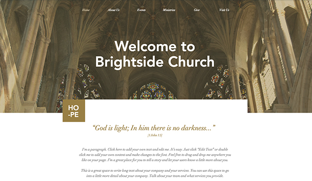 Religion website templates – Traditionelle Kirche