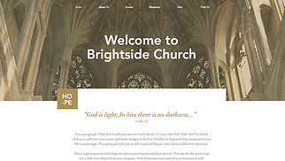 Religion website templates - Traditional Church