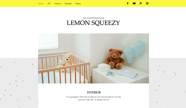 Blog template – Blog di mamme creative