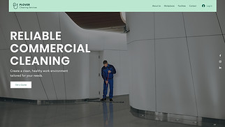 All website templates - Commercial Cleaning Service