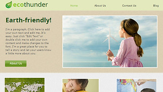 Non-Profit website templates -  Green Earth
