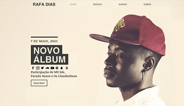 DJ e Produtor website templates – Artista de Hip Hop