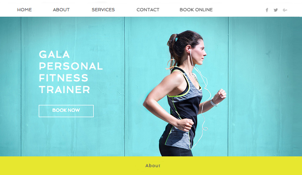 Sport i fitness website templates – Trener personalny