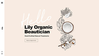 Beauty & Hair website templates - Organic Skin Care Beautician