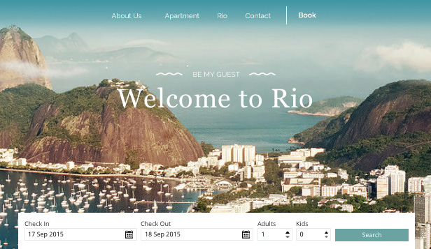 Apartamenty i hostele website templates – Kwatery Rio
