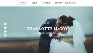 Photography website templates - Wedding Photography