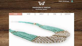 Online Store website templates - Jewelry Store