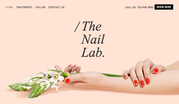 Schoonheid en kapsels website templates – Het nagellaboratorium