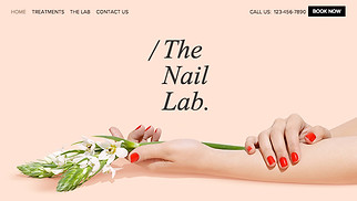 Beauty & Hair website templates - The Nail Lab
